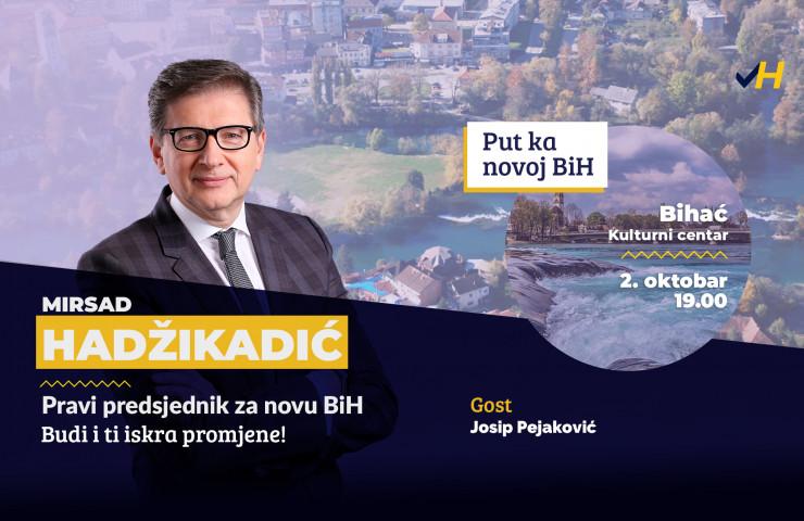 Predizborni skup u Bihaću, 02.10.2018.