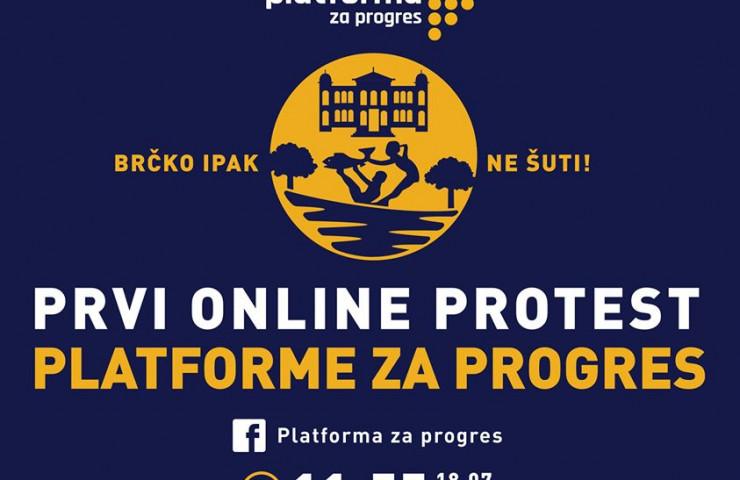 Online protest Platforme za progres, sutra u 5 do 12!